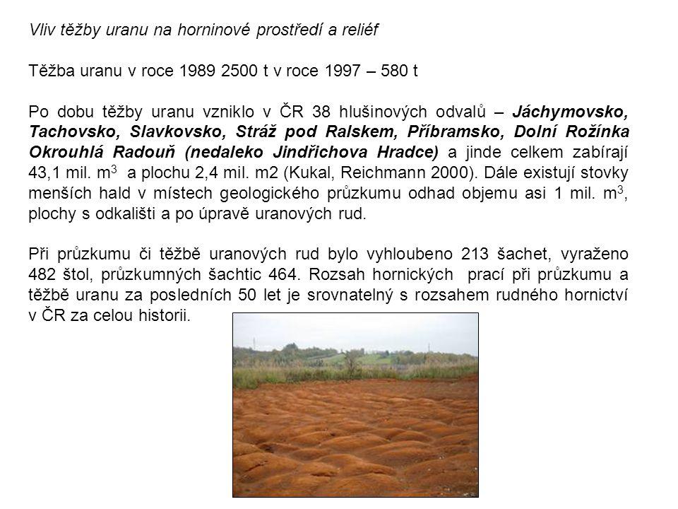 Vliv těžby uranu na horninové prostředí a reliéf