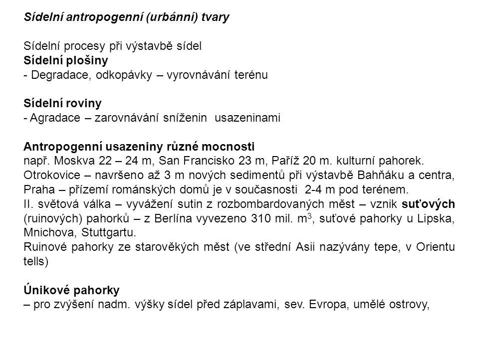 Sídelní antropogenní (urbánní) tvary