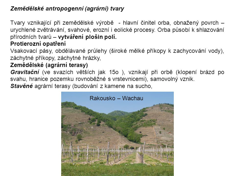 Zemědělské antropogenní (agrární) tvary
