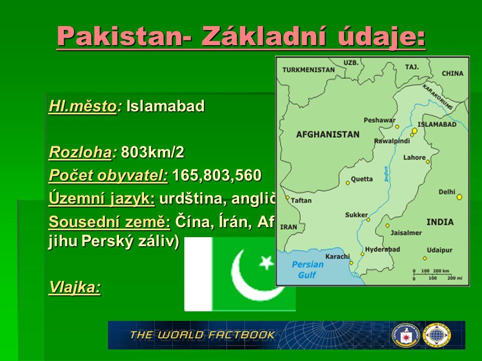 Pakistan- Základní údaje: