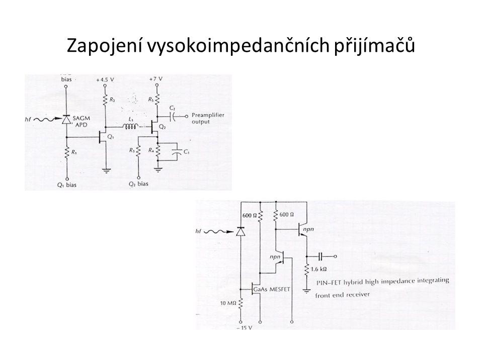 Zapojení vysokoimpedančních přijímačů