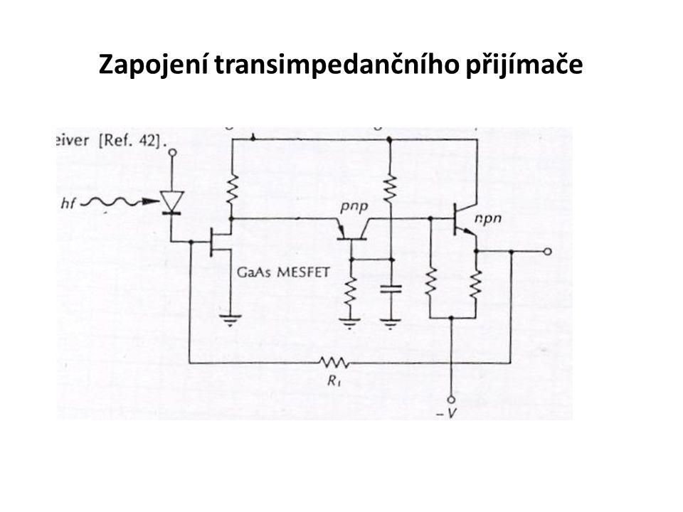 Zapojení transimpedančního přijímače
