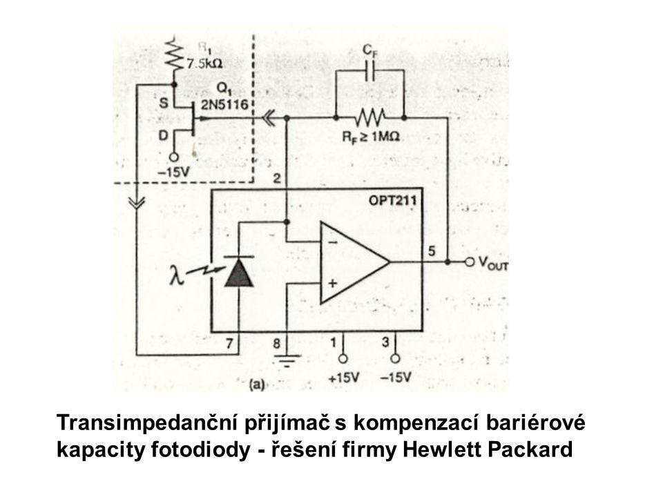 Transimpedanční přijímač s kompenzací bariérové