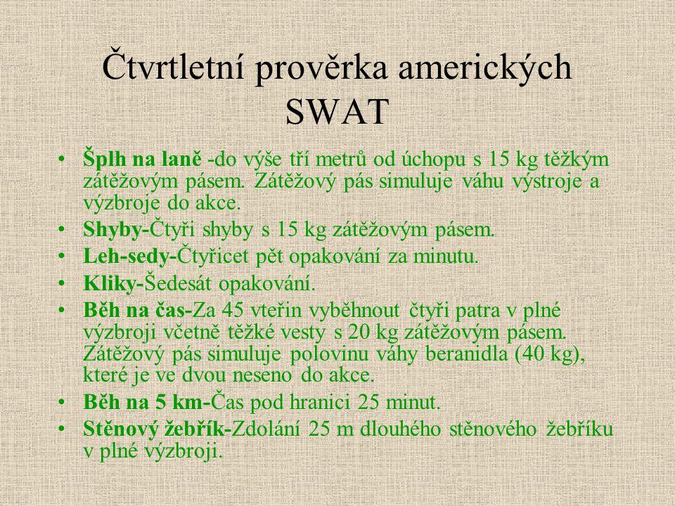 Čtvrtletní prověrka amerických SWAT