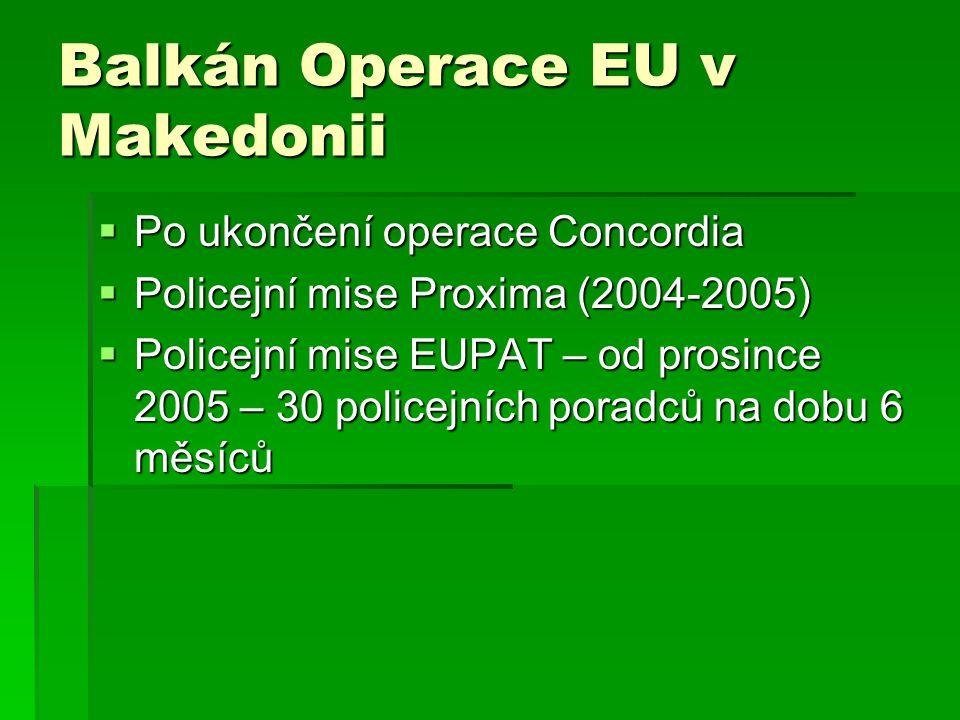 Balkán Operace EU v Makedonii