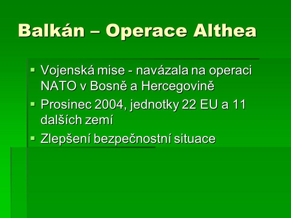 Balkán – Operace Althea