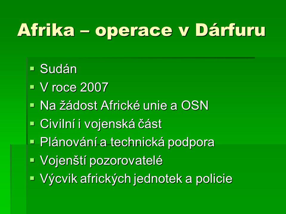 Afrika – operace v Dárfuru