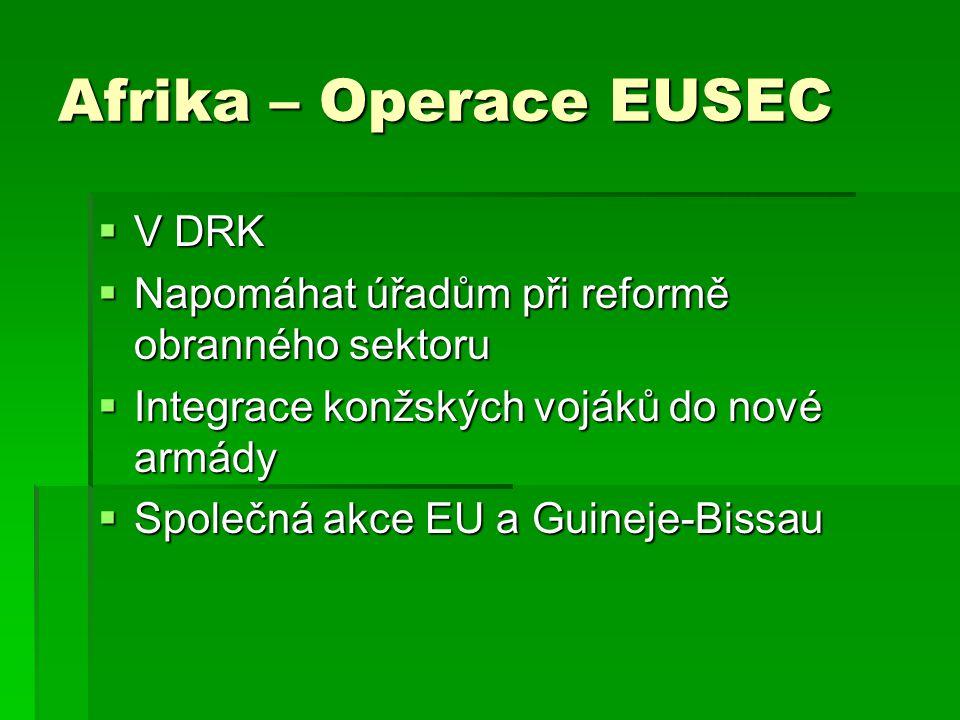 Afrika – Operace EUSEC V DRK