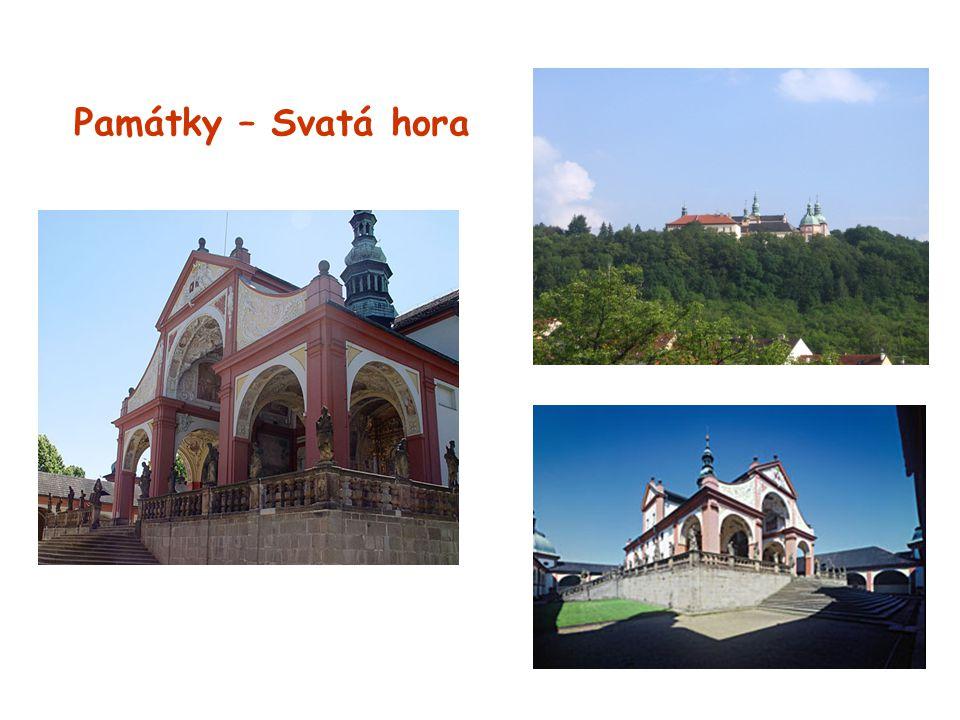 Památky – Svatá hora -z barokního období -poutní kostel Panny Marie