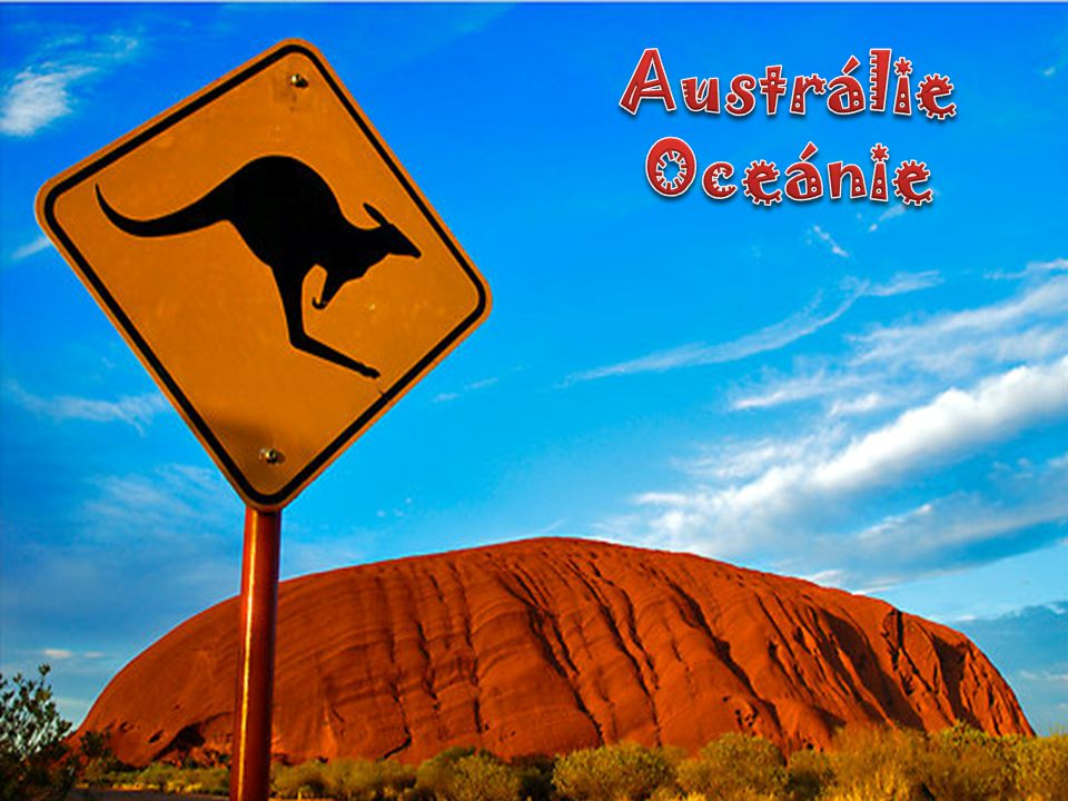 Austrálie Oceánie http://www.redbubble.com/people/ozczecho/works/84129-uluru-and-a-kangaroo