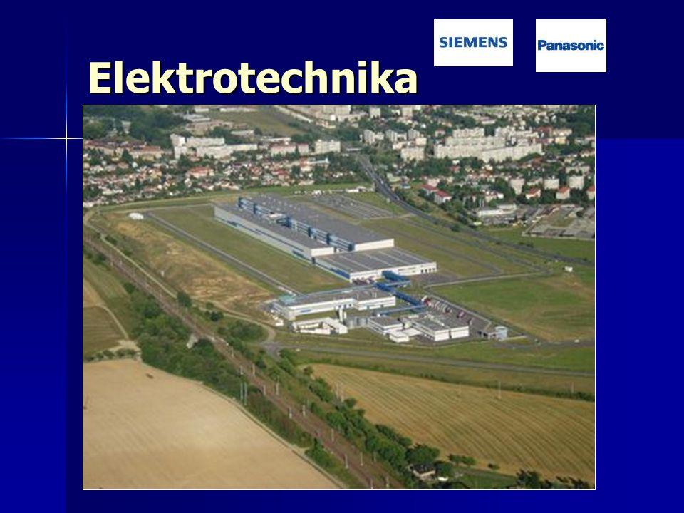 Elektrotechnika Odvětví závislé na zahraničních investicích