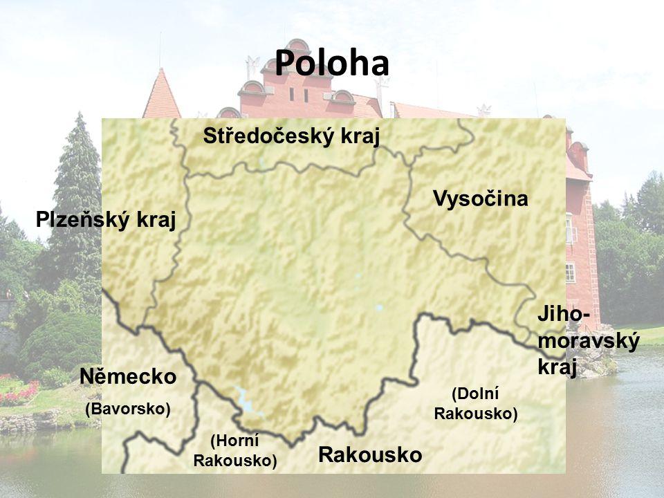 Poloha Středočeský kraj Vysočina Plzeňský kraj Jiho- moravský kraj