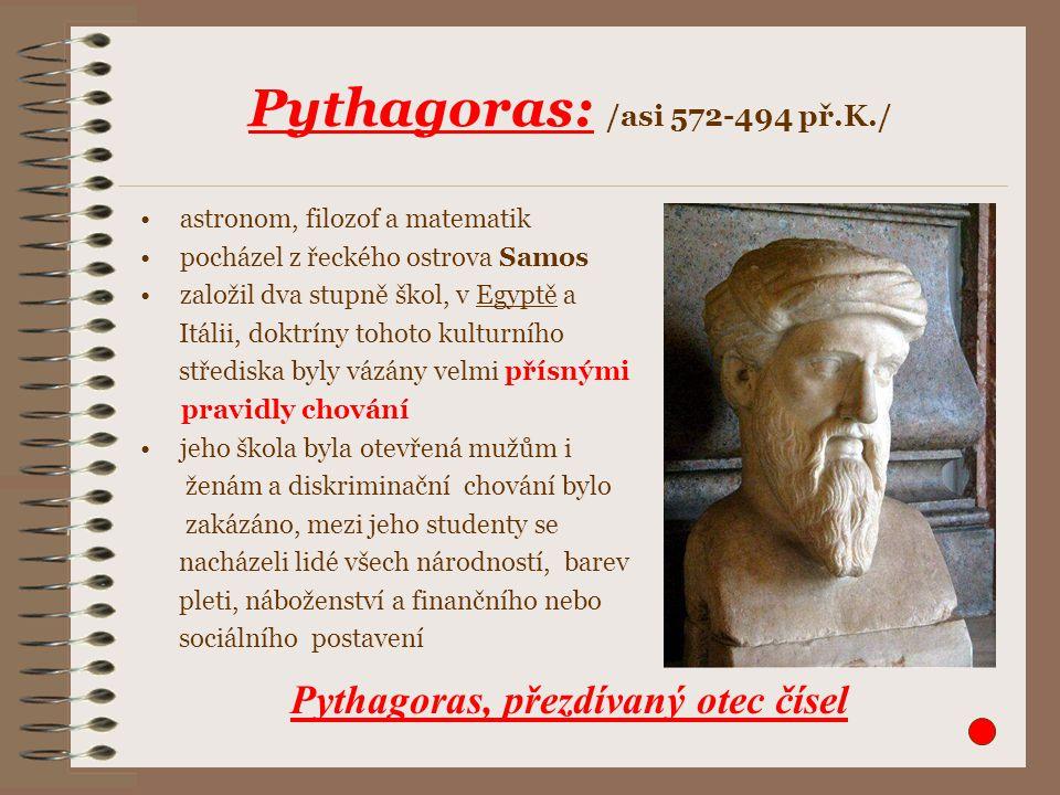 Pythagoras: /asi 572-494 př.K./