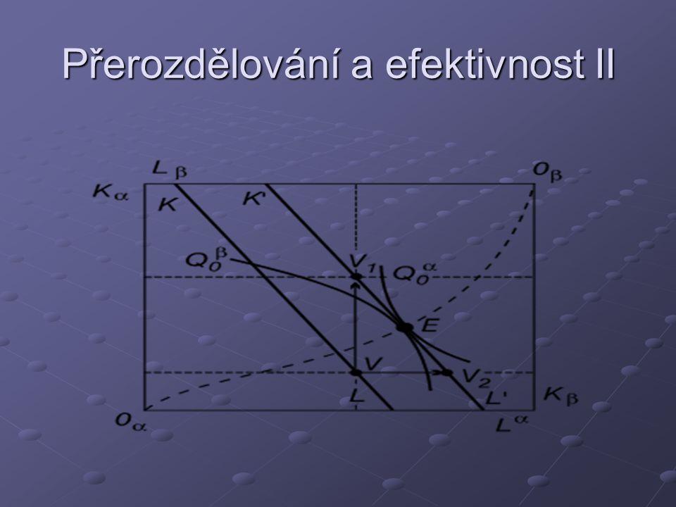 Přerozdělování a efektivnost II