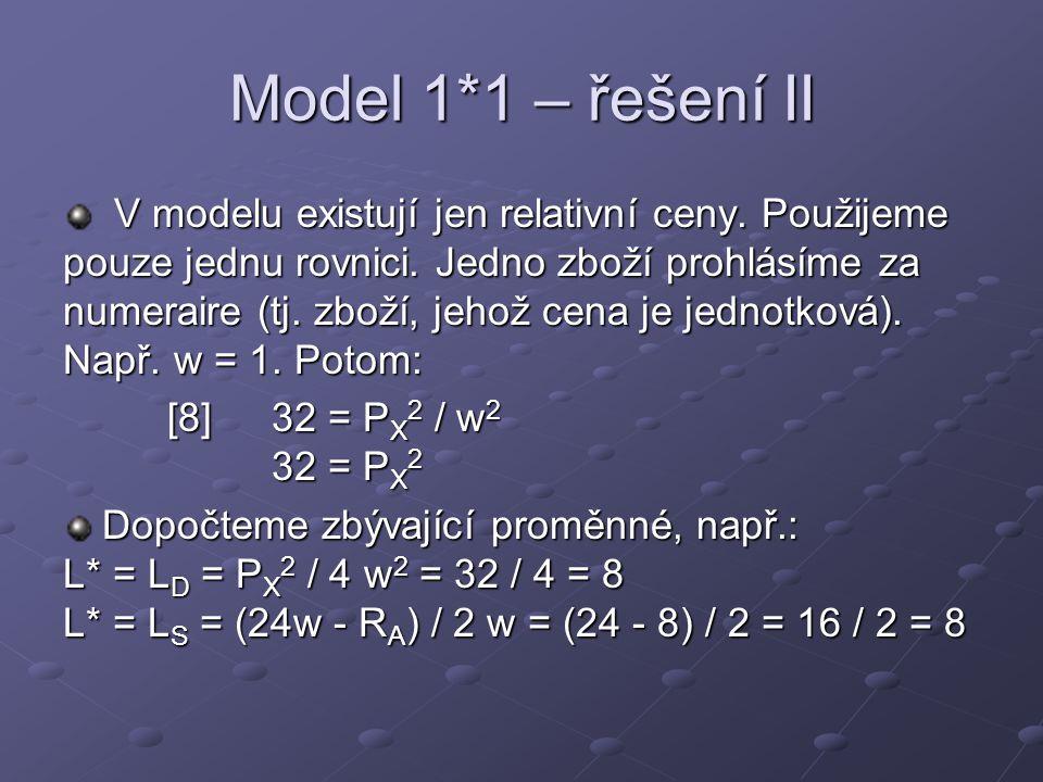 Model 1*1 – řešení II