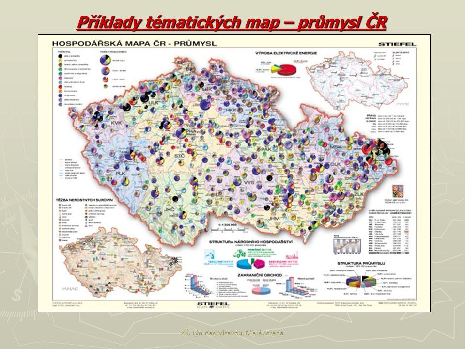 Příklady tématických map – průmysl ČR