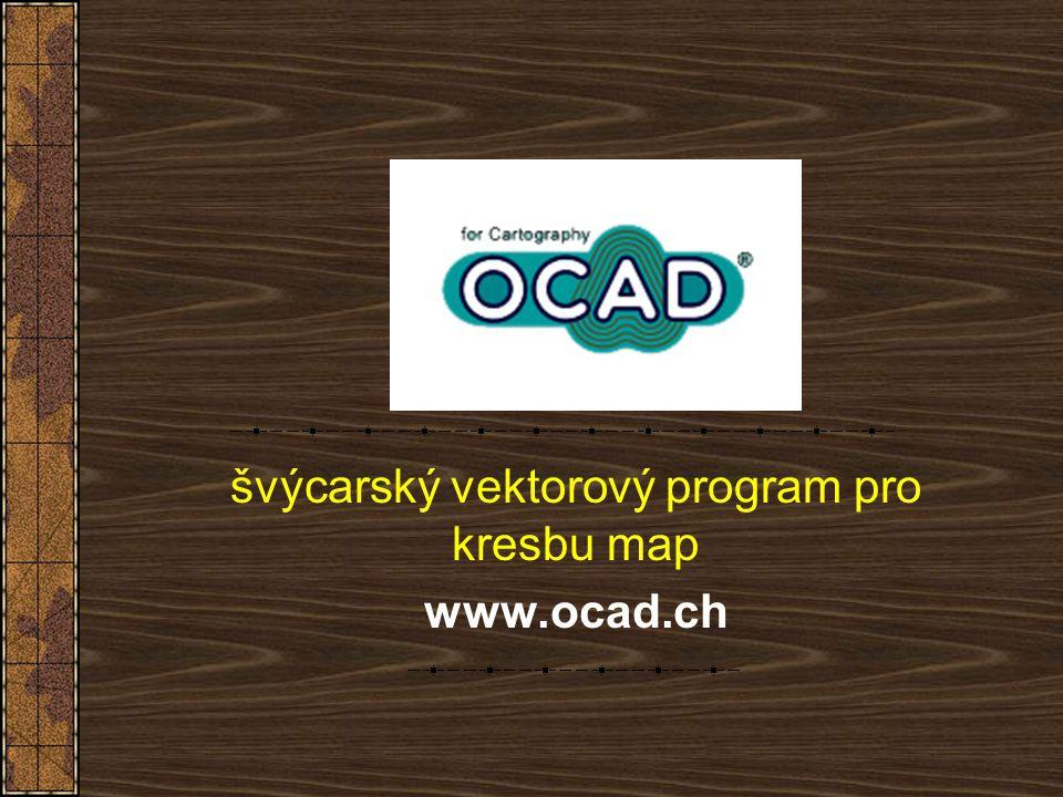 švýcarský vektorový program pro kresbu map www.ocad.ch