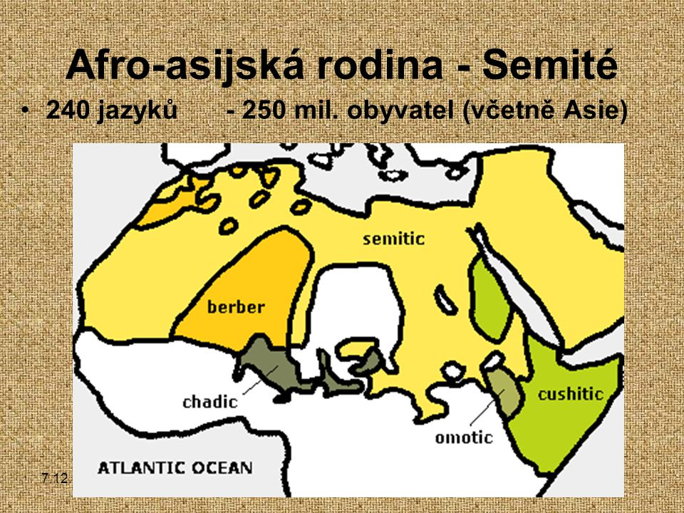 Afro-asijská rodina - Semité