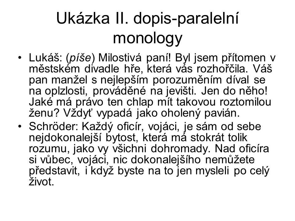 Ukázka II. dopis-paralelní monology