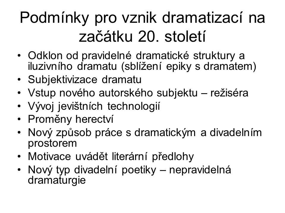 Podmínky pro vznik dramatizací na začátku 20. století