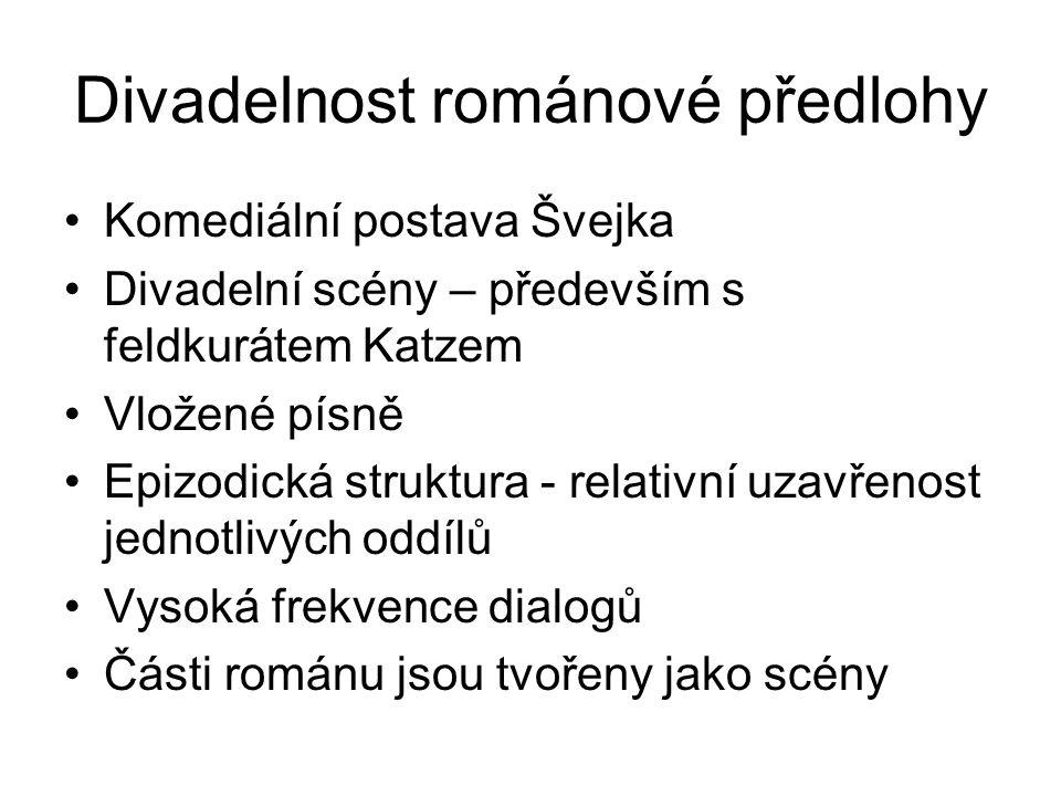 Divadelnost románové předlohy