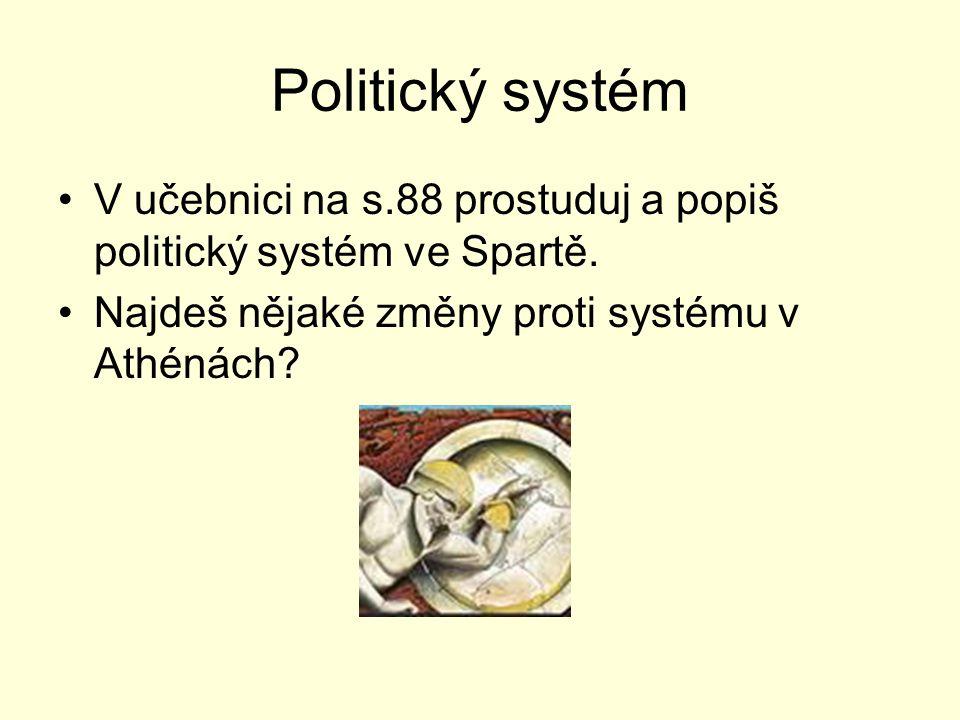 Politický systém V učebnici na s.88 prostuduj a popiš politický systém ve Spartě.