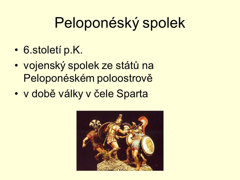 Peloponéský spolek 6.století p.K.