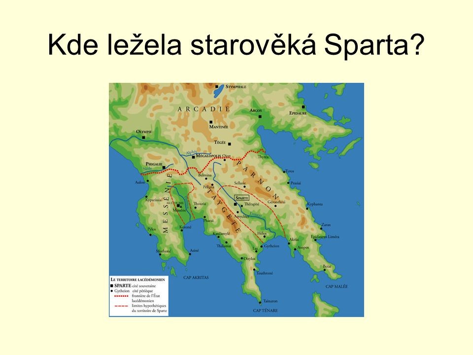Kde ležela starověká Sparta