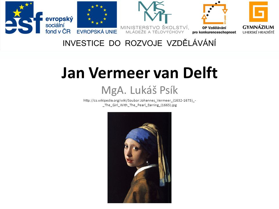 Jan Vermeer van Delft MgA. Lukáš Psík