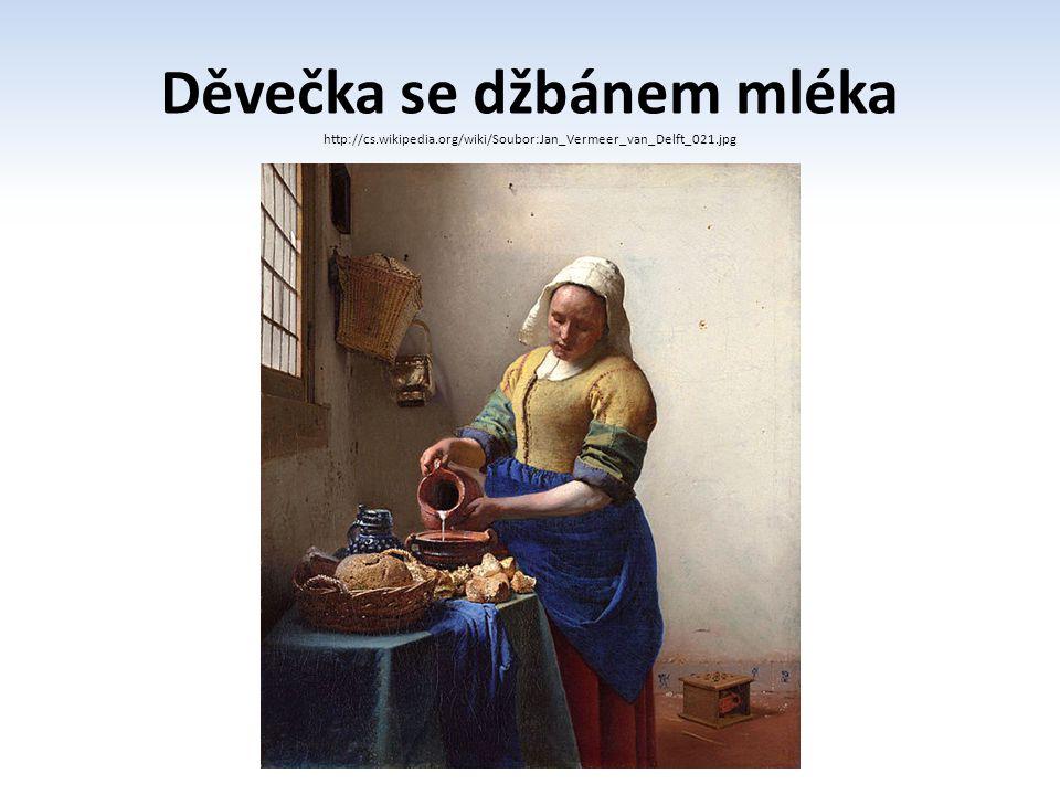 Děvečka se džbánem mléka