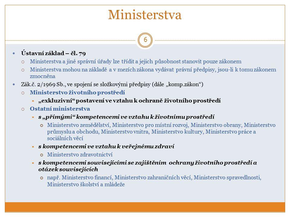 Ministerstva Ústavní základ – čl. 79