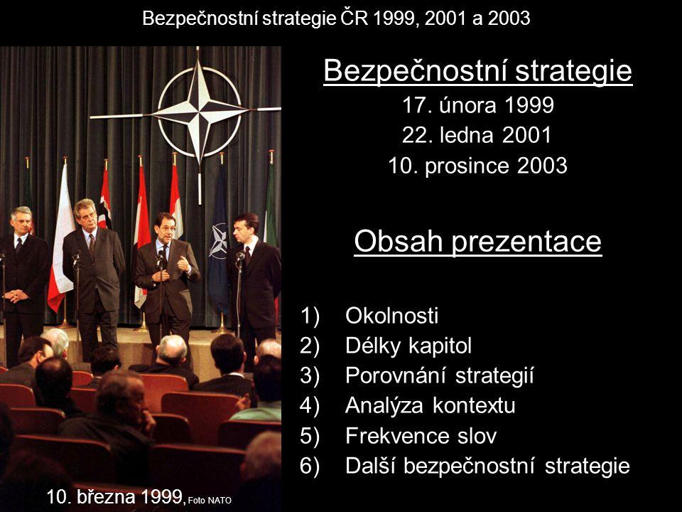 Bezpečnostní strategie ČR 1999, 2001 a 2003