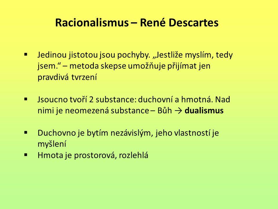 Racionalismus – René Descartes
