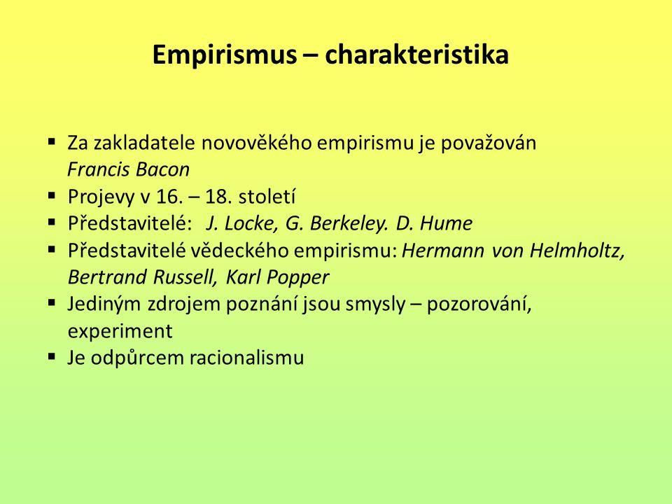Empirismus – charakteristika