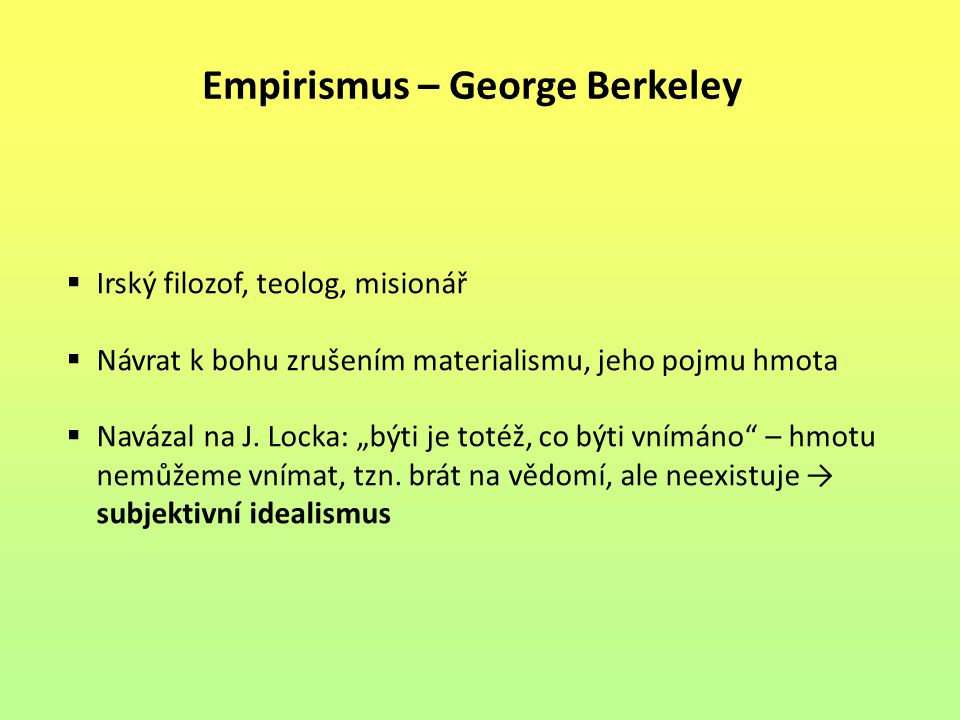 Empirismus – George Berkeley