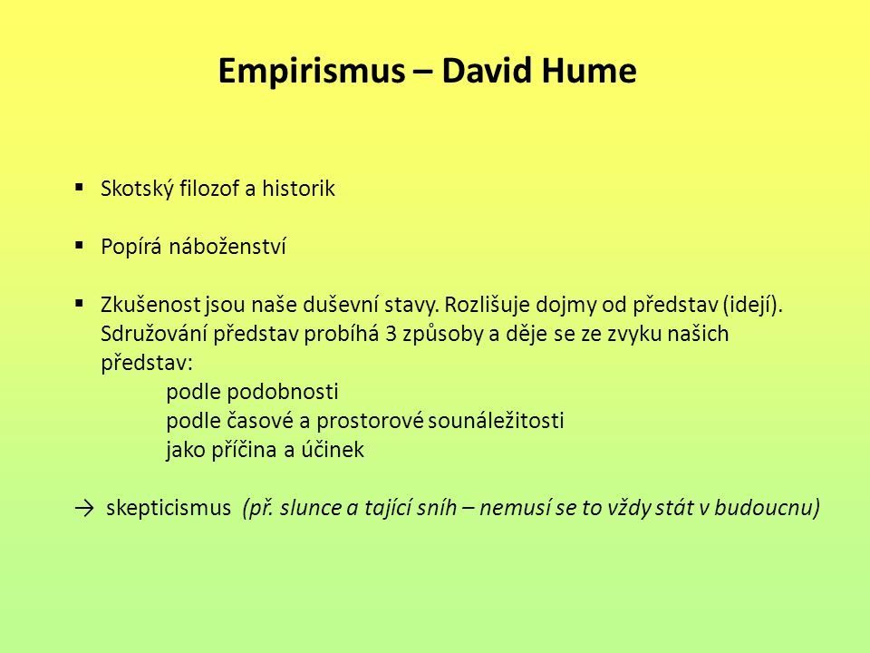 Empirismus – David Hume