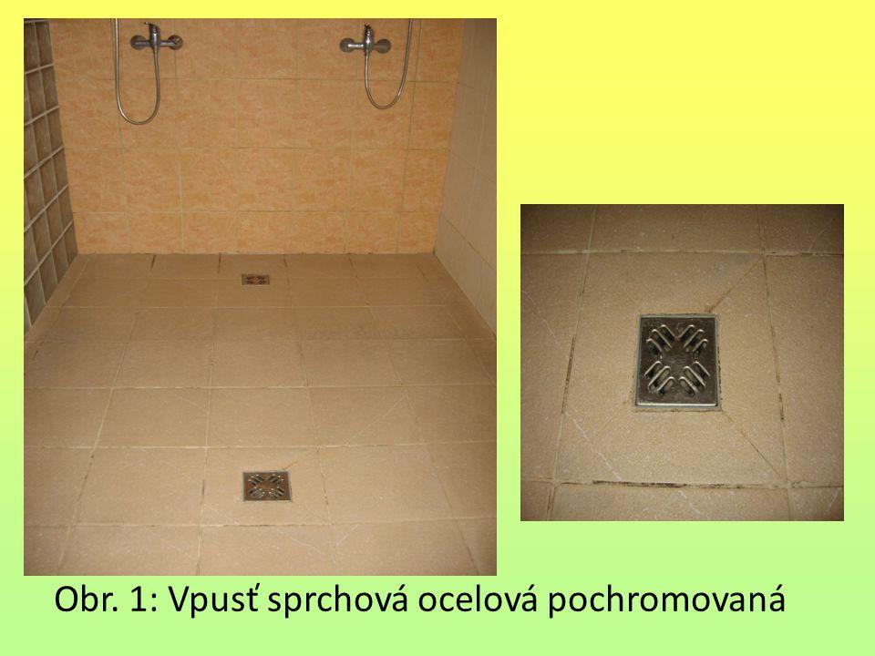 Obr. 1: Vpusť sprchová ocelová pochromovaná