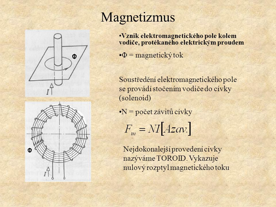 Magnetizmus Φ = magnetický tok