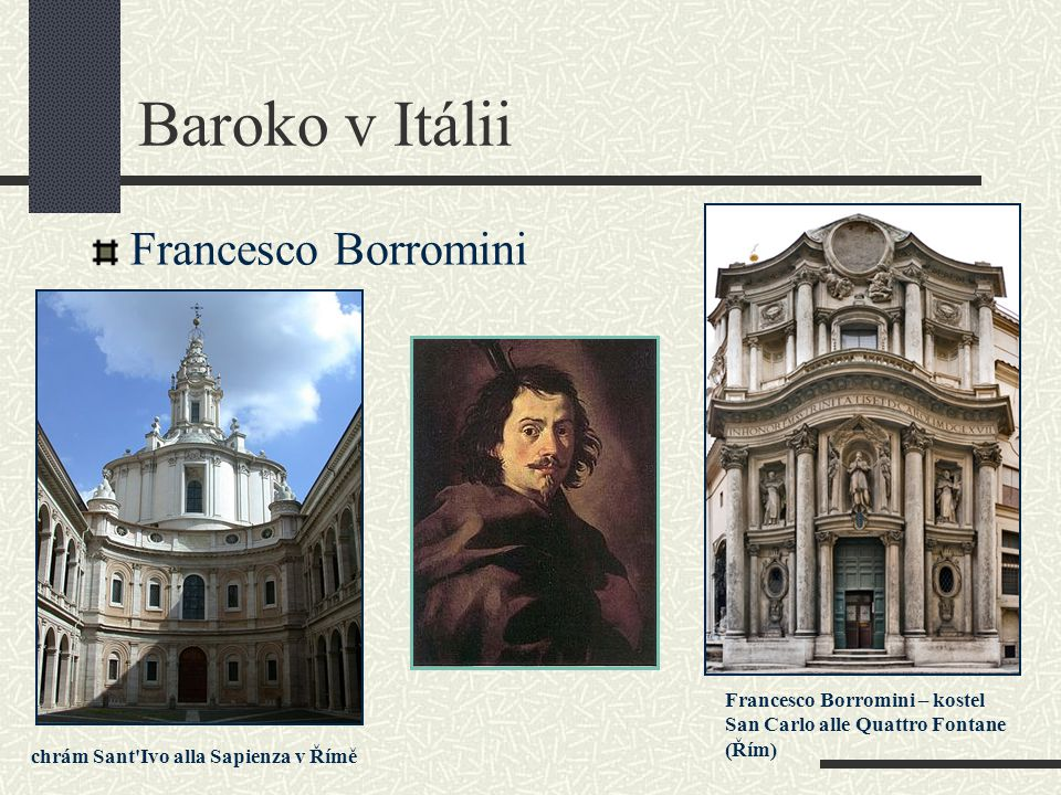 Baroko v Itálii Francesco Borromini