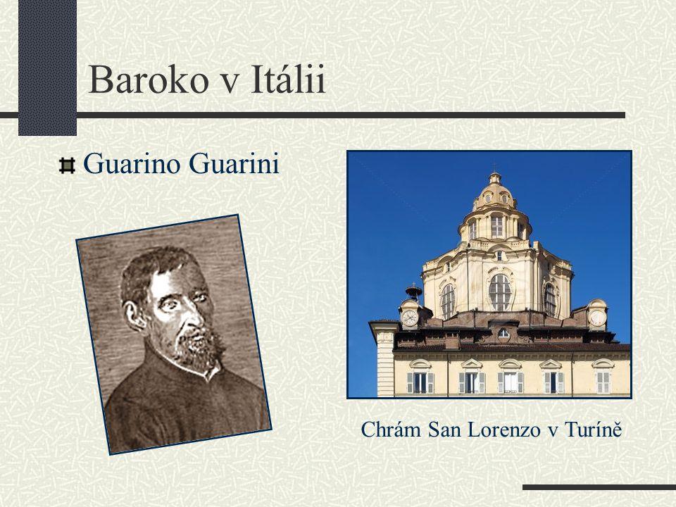 Baroko v Itálii Guarino Guarini Chrám San Lorenzo v Turíně