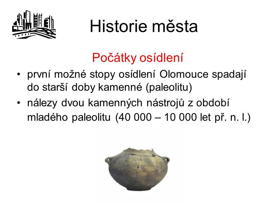 Historie města Počátky osídlení