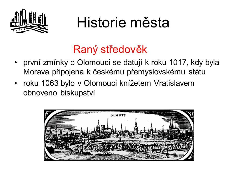 Historie města Raný středověk