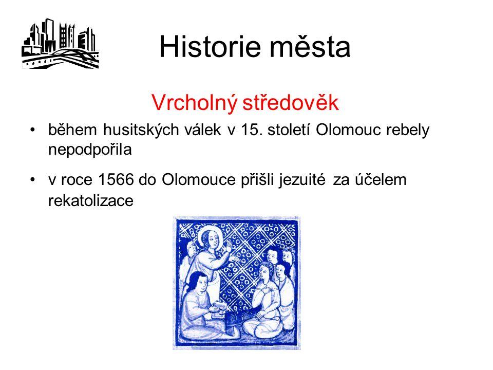 Historie města Vrcholný středověk
