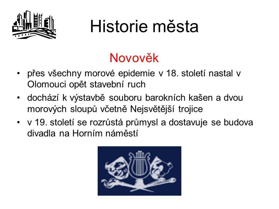 Historie města Novověk
