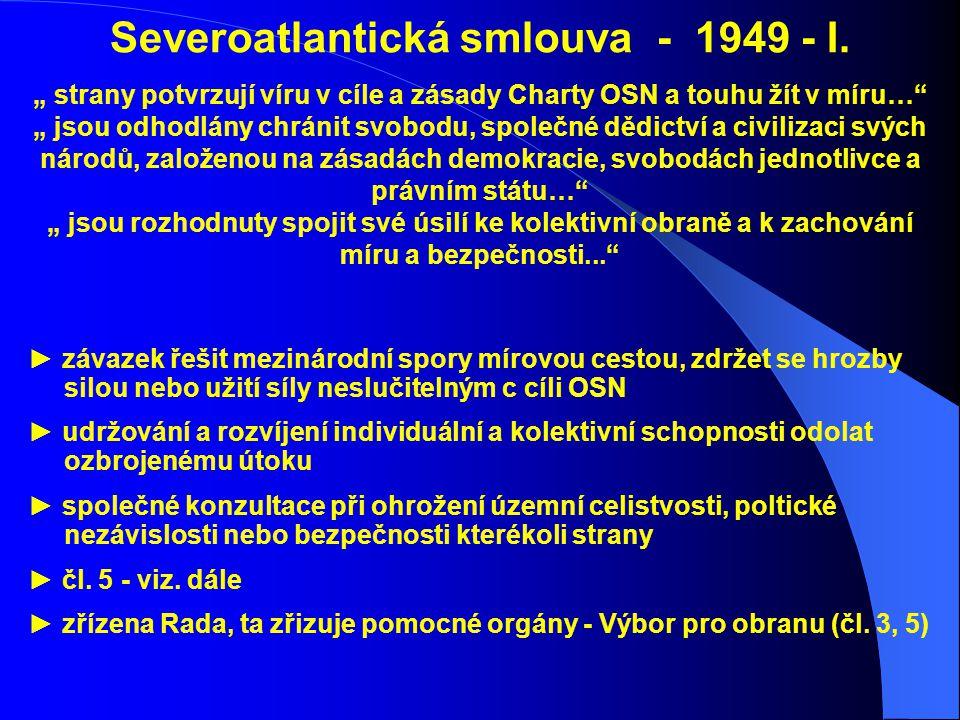 Severoatlantická smlouva - 1949 - I