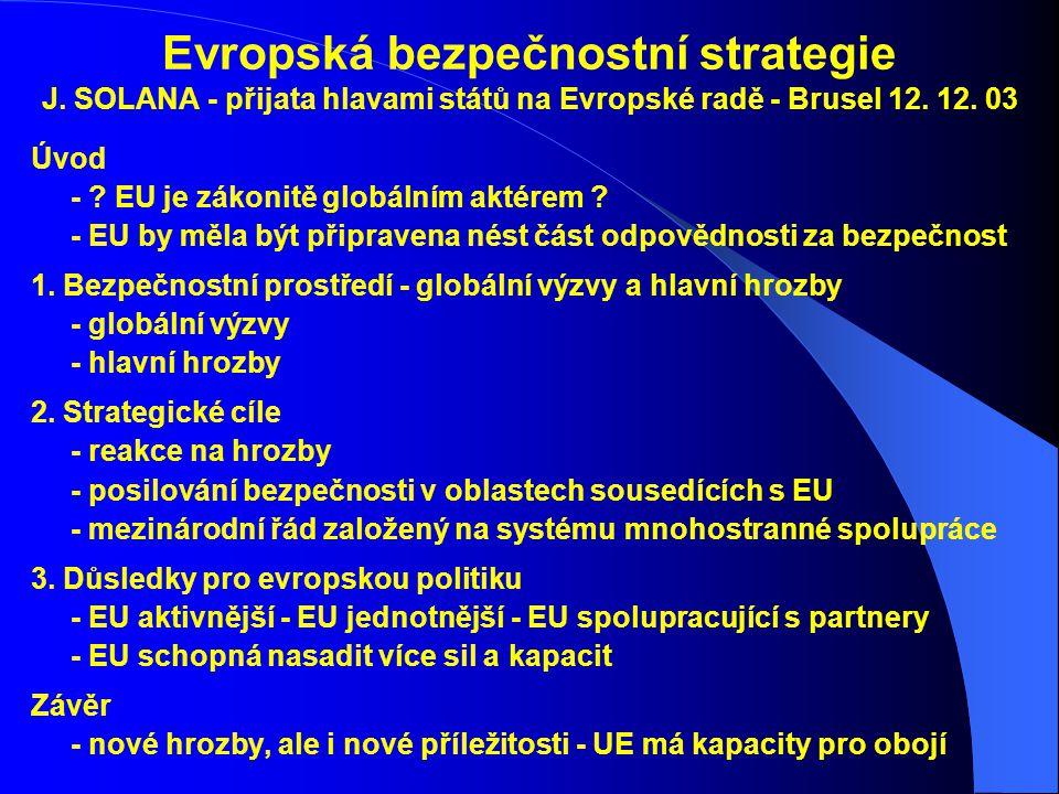 Evropská bezpečnostní strategie J