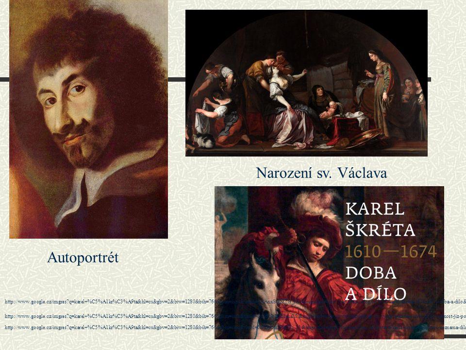 Narození sv. Václava Autoportrét