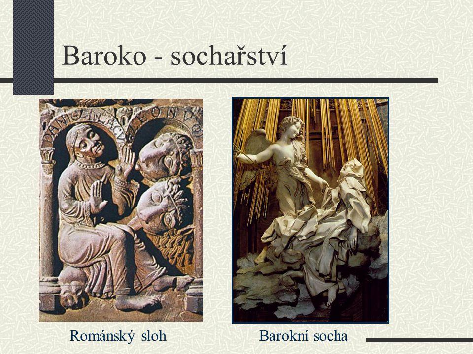 Baroko - sochařství Románský sloh Barokní socha