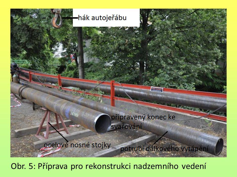 Obr. 5: Příprava pro rekonstrukci nadzemního vedení