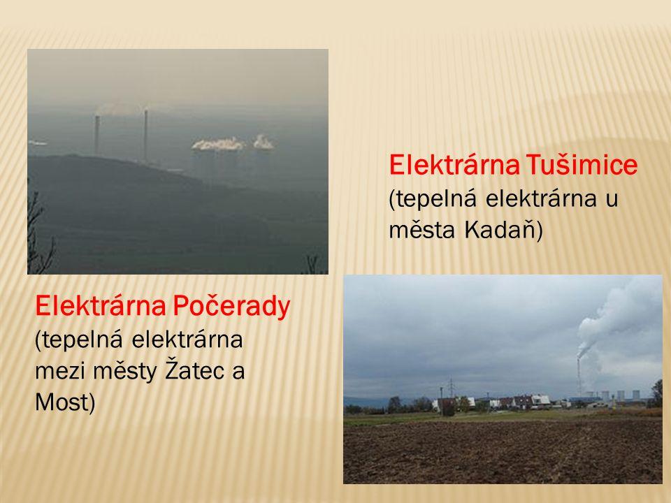 Elektrárna Tušimice Elektrárna Počerady
